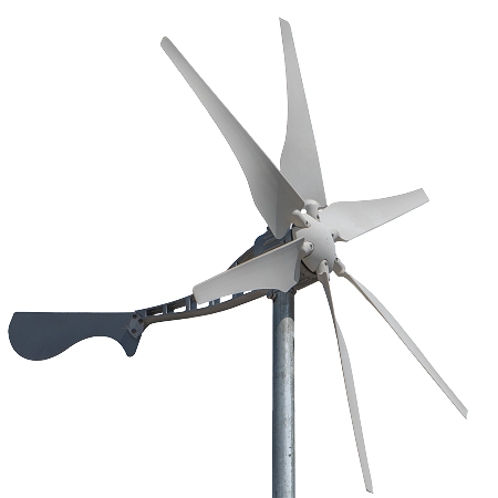 Wind Turbine, Horiz, 400W 12/24V,6 Blade